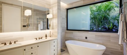 Bathroom with Sashless Window