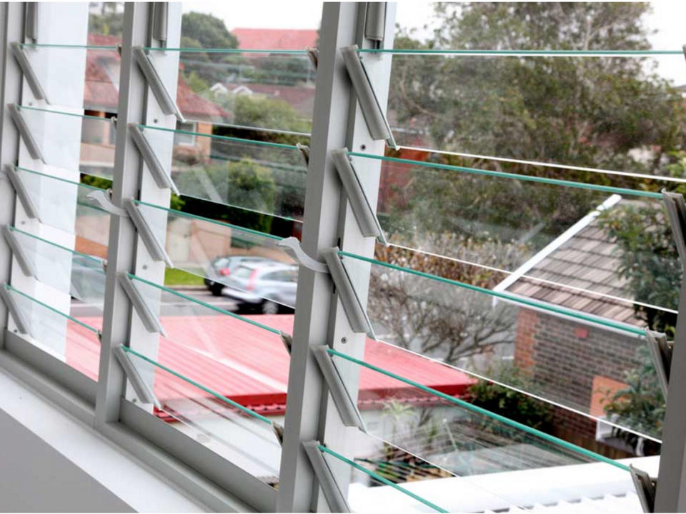 Outdoor view from louver windows