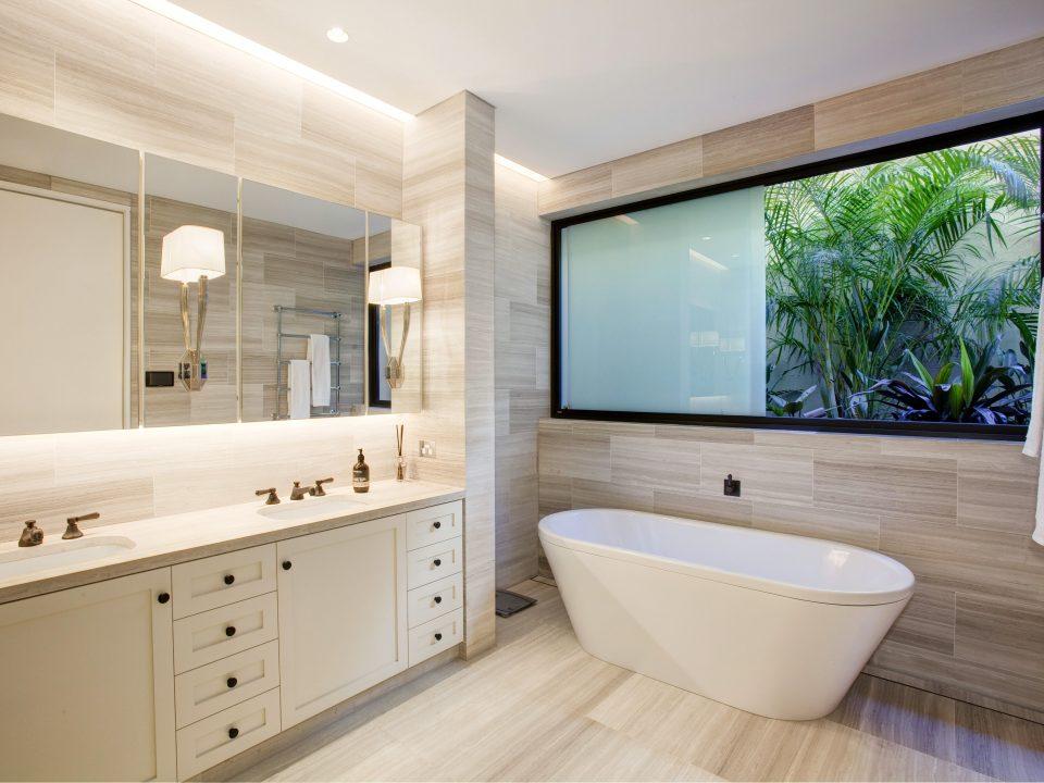 Bathroom with Sashless Window
